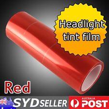 Red Headlight Tint Sheet Car Van Tail Side Light Fog Lamp Smoke Decal 30 x 65cm