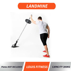 Landmine T-Bar Row Bent Over Close Grip Handle Olympic Attachment Back Exercise