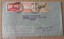 1 Enveloppe timbrée envoyée d'Argentine (Buenos Aires) le 2 mars 1946