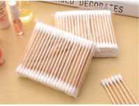 Cotton Swabs Buds Wooden Sticks 100 Double Sided Head