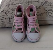 Kidgets Toddler Girls Pink Camo Hightop Canvas Sneakers Size 8 New
