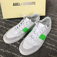 Axel Arigato Dunk Leather Suede White w Green Shoes UK 8 RRP 240