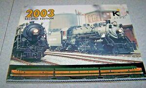 K-LINE ELECTRIC TRAIN Catalog - 2003 - Second Edition - EUC!