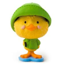 2016 Hallmark Merry Miniatures Duck In Raincoat Figurine