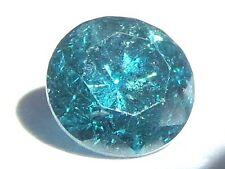 0.38 carats BLUE Brilliant Cut ROUND POLISHED DIAMONDS