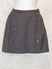 Hawks Urban Outfitters Grey Gray Stud Womens Mini Skirt A Line sz 2 Work Office