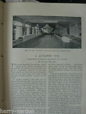 Model Railway Lucas & Davies Mr P Leigh Brentwood, Worsley Rare Old 1898 Article