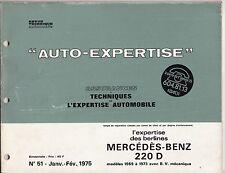 RTA n' 51 Mercedes benz 220D Assurance et Techniques de l'expertise automobile