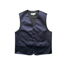 New Boy's Kid's formal Tuxedo Vest Waistcoat only Navy blue US 2 4 6 8 10 12 14