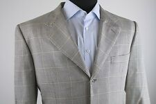 d'Avenza White Black Houndstooth Gold Overcheck Sport Coat Jacket 56R (44R US)