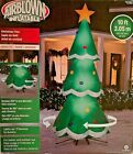 HUGE GIANT NEW 10 FT TALL ROTATING LED CHRISTMAS TREE AIRBLOWN GEMMY INFLATABLE