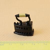 1 X Miniature Iron for 1:12 Doll House Miniature Living Room Decor Metal Tackle