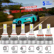 Combo 9005 + H11 + 9006 CREE LED Headlight Kit Hi Low Beam 6000K 4950W 585000LM