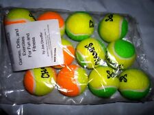 Lot 12 Champs Kids Green Orange 60 Court Low Compression Tennis Balls New