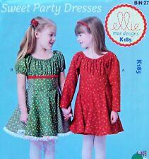 185 Ellie Mae Little Girls Party Dresses Pattern sz 3-10 2014 UNCUT