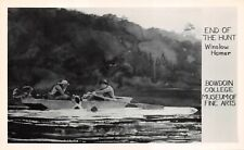 """(569)  Rare Vintage Postcard """"END OF THE HUNT"""" by Winslow Homer"""