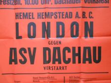 8 august 1976  ABA   BOXING POSTER Hemel Hempstead  london V  Dachau