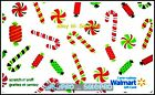 WALMART CHRISTMAS SUGER CANE CANDY & SWEET #VL10035 COLLECTIBLE GIFT CARD For Sale