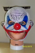 ADULT CLOONEY DEMENTED EVIL CLOWN CHINLESS FULL LATEX MASK COSTUME TB27516