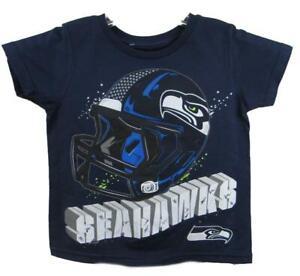 Seattle Seahawks Toddler Size 2T 3T or 4T Short Sleeve Helmet T-Shirt ASSE 86