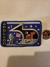 NASA APOLLO 11 - 35TH ANNIVERSARY PATCH & PIN COMBO