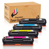 4 PK Black Color Toner CB540A - CB543A 125A Set For HP Laserjet CP1515n CP1518ni