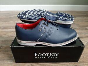 NEW 2021 FootJoy Dryjoys Premiere Flint Mens Golf Shoes Navy 11 Medium