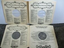 CBS RECORDS INNER SLEEVES (4) FOR  CBS  CLASSICAL  LP'S CLEAN POLY-LINED SLEEVES