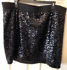 Torrid Womens Black Embellished Sequin Skirt Size 4 New NWOT Party Prom Wedding