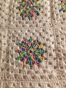 Blanket Throw Baby Cot Handmade Granny Squares