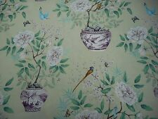 Zoffany Rideau tissu «Romey's Garden» 2,4 mètres (240cm) vieil or 100 % lin