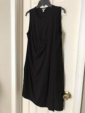 DKNY Womens Black Overlay Ruffle Casual Dress M Summer Cocktail Party Dressy NWT