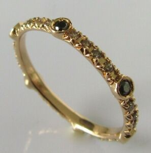 Gold Diamond Ring - 18ct Rose Gold Multi Diamond Eternity Ring Size M 1/2
