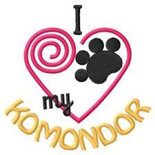 "I ""Heart"" My Komondor Fleece Jacket 1439-2 Size S - Xxl"