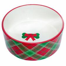 Buffalo Check Plaid Dog Food Bowl Ceramic Eating Dish Dog Mom Dad Gift Accessori