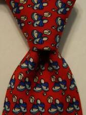 VINEYARD VINES Martha's Boys Youth Silk Necktie Luxury BALLS & FLIPFLOPS Red GUC