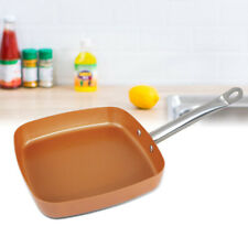 9.5 Inch Non Stick Copper Coating induction base Square Frying Pan Oven Safe