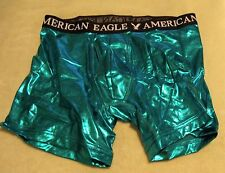 MENS UNDERWEAR AMERICAN EAGLE METALLIC BOXER BRIEFS (MEDIUM)