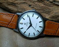 RARE 1963 OMEGA SEAMASTER WHITE DIAL AUTOMATIC CAL:565 MAN'S WATCH