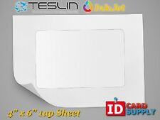"Teslin® Synthetic Paper - 4"" x 6"" Perforated 1-Up InkJet Sheet"