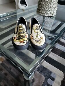 New Converse Sailor Jerry Slip On Shoes Size 8 Homeward Ship & Anchor