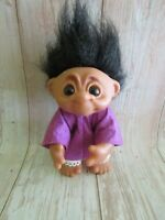 Vintage 1977 Thomas Dam Troll Black Hair 7""