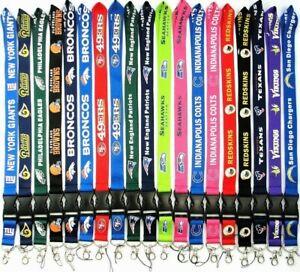 NFL Lanyard NEW UK Seller Keyring ID Holder Strap USA American Football