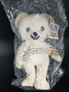 """VINTAGE 1999 8"""" LEVER BROTHERS SNUGGLE BEAR BEANIE/BEAN BAG PLUSH New WITH Tags"""