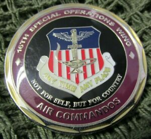 USAF 16TH SPECIAL OPERATIONS WING AIR COMMANDOS FIRST SERGEANT CHALLENGE COIN #1