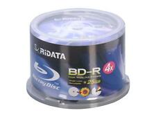 100-Pack RiData 4X White Inkjet HUB Printable BD-R Blu-Ray Blank Disc Media 25GB