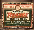 Vintage 1955 Pflueger ROCKET 🚀 Fishing Reel Empty Box