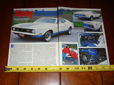 1972 FORD MUSTANG SPRINT - ORIGINAL 1998 ARTICLE