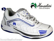Henselite Mens Henselite Mps44 Leather Lawn Bowling Trainers - 7