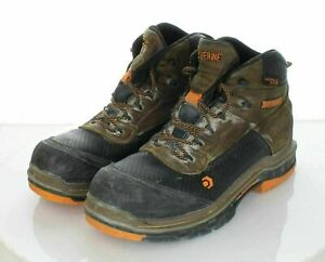 """T28 $150 Men's Sz 10 M Wolverine Overpass Carbonmax 6"""" Leather Work Boots"""